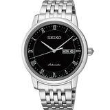 SEIKO Presage 羅馬時光機械腕錶-黑/40mm 4R36-04E0D(SRP693J1)