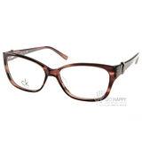 Calvin Klein 光學眼鏡 CK5745 275 (咖啡棕) 高貴迷人時尚小貓眼款 平光鏡框 # 金橘眼鏡