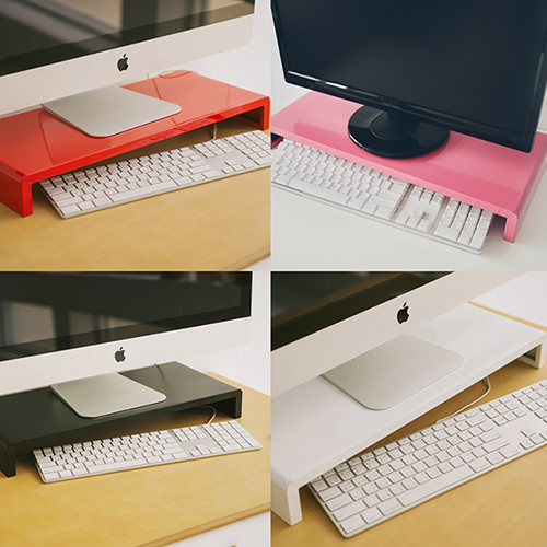Peachy life 輕日系高質感LCD螢幕架/桌上架/置物架(4色可選)