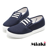 【Miaki】帆布鞋直擊首爾平底包鞋懶人鞋 (藍色)