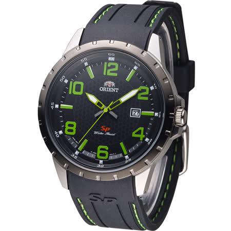東方錶 ORIENT 明日之星時尚腕錶 FUNG3005B 黑x綠色