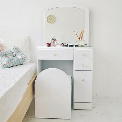 《Peachy life》甜美法式公主化妝桌椅組/書桌椅組(2色可選)