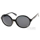 agnes b.太陽眼鏡 經典圓框款(黑)AB2820 BC
