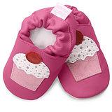 英國 shooshoos 安全無毒真皮手工鞋/學步鞋/嬰兒鞋 桃紅杯子蛋糕(公司貨)