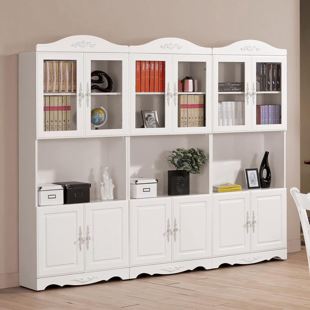 HAPPYHOME 卡蜜拉2.7尺四門書櫃