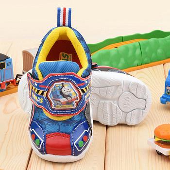 童鞋城堡-湯瑪士 中童 LED電燈運動鞋TH50013-藍