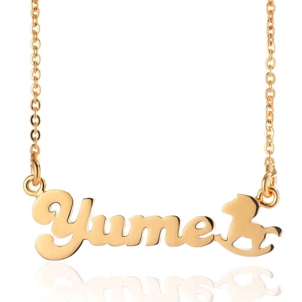 【YUME】超迷你木馬英文名字項鍊