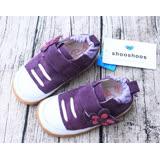 英國 shooshoos 安全無毒真皮手工學步鞋/童鞋 紫色小花(公司貨)