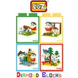 LOZ 鑽石積木 9463 - 9466 卡通場景系列 腦力激盪 益智玩具