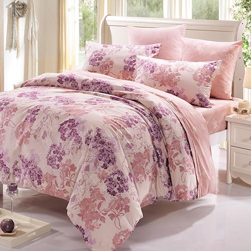 【鴻宇HongYew】美國棉/台灣製/朵勒絲-雙人加大四件式薄被套床包組