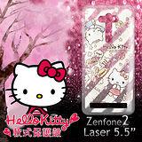 三麗鷗授權正版 Hello Kitty 凱蒂貓 ASUS Zenfone2 Laser 5.5吋 透明軟式保護套 手機殼(熱線Kitty)