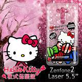 三麗鷗授權正版 Hello Kitty 凱蒂貓 ASUS Zenfone2 Laser 5.5吋 ZE550KL 透明軟式保護套 手機殼 (糖果HI)