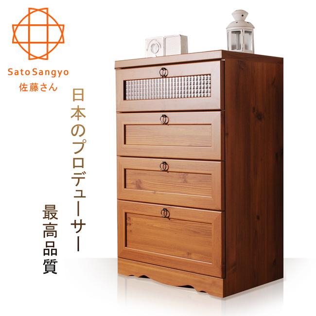 【Sato】PISTRO巴黎公寓四抽收納櫃‧幅58cm