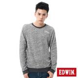EDWIN 亂紋花紗貼布長袖T恤-男-麻灰色