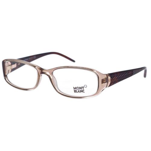 萬寶龍 MONTBLANC-時尚光學眼鏡(透明咖啡)MB303