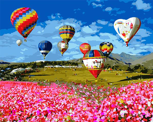 ArtLife藝術生活【TW006】台灣風情誌-台東鹿野熱氣球_DIY 數字 油畫 彩繪 40*50cm