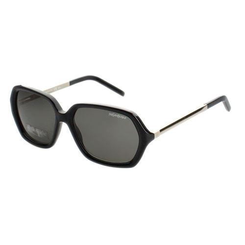 YSL 時尚太陽眼鏡 (黑色/琥珀色)