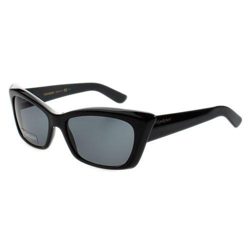 YSL 時尚太陽眼鏡 (黑色/漸層灰)