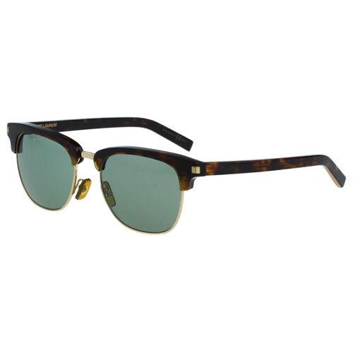 Saint Laurent Paris 時尚太陽眼鏡(琥珀+金)