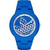 adidas 三葉草點點風時尚腕錶-藍/41mm ADH3049