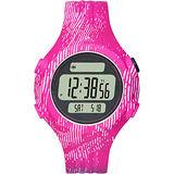 adidas 運動印制紋風電子腕錶-粉紅/42mm ADP3187