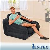 【INTEX】二合一單人充氣沙發床/沙發椅 (黑色) (68565)