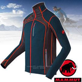 【瑞士 MAMMUT 長毛象】男新款 Eiswand Jacket 頂級極限保暖刷毛外套.刷毛抓絨外套/Polartec® Thermal Pro科技刷毛/15710-5325 深藍