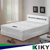 【KIKY】二代韓式克萊兒高碳鋼舒眠型彈簧單人床墊3尺