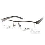 OGA眼鏡 簡約眉框款(槍灰) #OGA7452O GG061