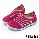 【Miaki】慢跑鞋健走限定平底休閒鞋 (梅紅色)