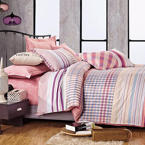 FOCA《清晨依戀》加大100%精梳棉四件式舖棉兩用被床包組