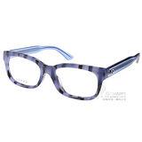 GUCCI眼鏡 簡約粗框款(藍-透明) #GG3759F YV5