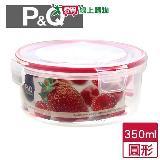 樂扣樂扣 P&Q圓型保鮮盒-紅(350ml)