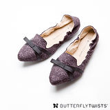 BUTTERFLY TWISTS - JAMIE可折疊扭轉芭蕾舞鞋-豹紋灰