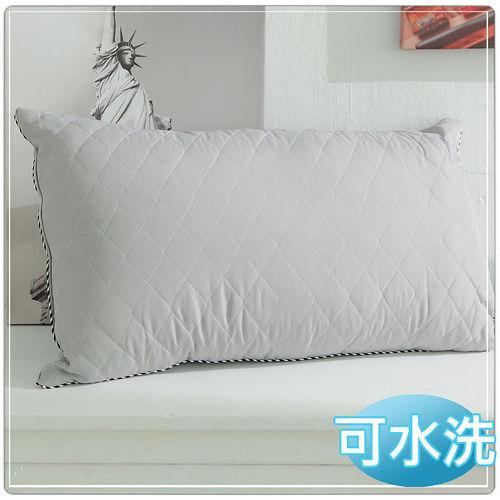 【JOY】可水洗鋪棉竹炭枕-2入組