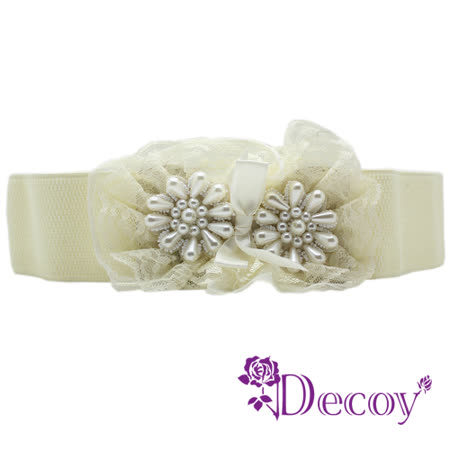 【Decoy】蕾絲花圈*多層珍珠腰封/二色可選