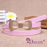 【Decoy】貓眼蝴蝶結*糖果色皮帶/粉