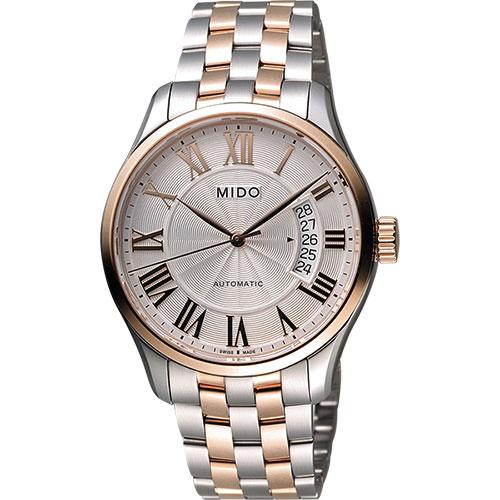MIDO Belluna II Gent 羅馬機械腕錶-銀x雙色版/40mm M0244072203300