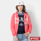 5th STREET 美式連帽開襟外套-女-桃紅色