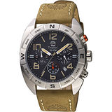 Timberland Oakwell 探險王計時腕錶-黑x軍綠/44mm TBL.13670JS/02A