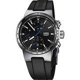 Oris Willimas F1賽車系列計時機械錶-黑/44mm 0177477174154-0742450