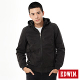 EDWIN 網路限定 可拆帽舖棉防寒外套-男-黑色