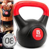 KettleBell重力8公斤壺鈴(17.6磅)C109-2108拉環啞鈴搖擺鈴.舉重量訓練
