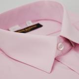 【金安德森】粉紅色基本款長袖襯衫(品特)