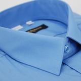【金安德森】藍色基本款長袖襯衫(品特)