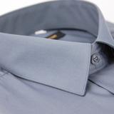 【金安德森】灰色基本款長袖襯衫(品特)