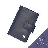 VOVA 自由系列4卡蜥蜴紋舌片名片夾(藍色)VA106W027BL