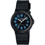 CASIO 時尚玩色輕薄魅力腕錶(MQ-71-2B)-黑x藍