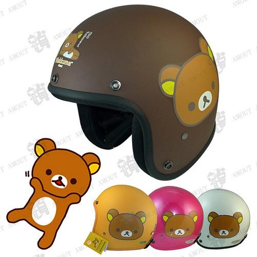 ~ 3 4罩騎士安全帽 拉拉熊 大臉 01~ 3 4罩│半罩│復古帽│ 騎士帽│ 款│可拆
