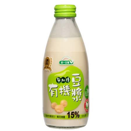 統一生機 有機無加糖豆漿24瓶